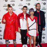 DNCE en la alfombra roja de los BBC Radio 1's Teen Awards 2016