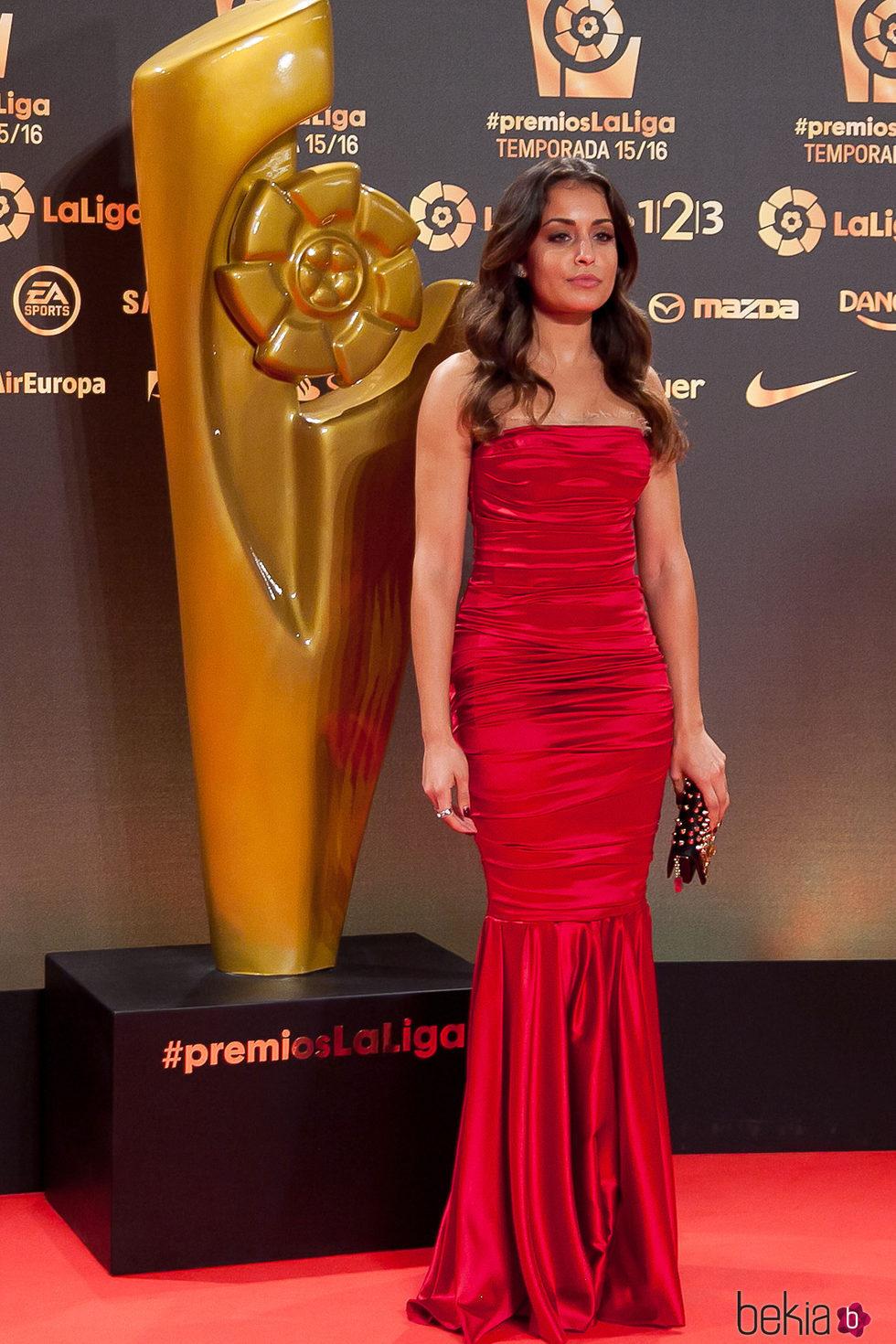 Hiba Abouk en los Premios La Liga 2016 en Valencia