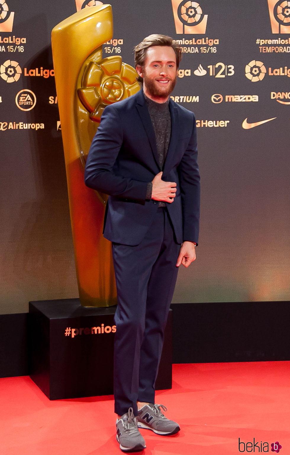 Pablo Rivero en los Premios La Liga 2016 en Valencia