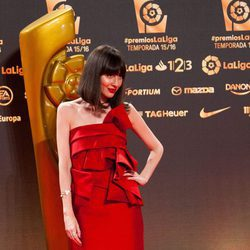 Natalia Ferviú en los Premios La Liga 2016 en Valencia