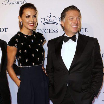 Mar Flores y Elías Sacal posan por primera vez juntos en la entrega de premios Princesa Grace