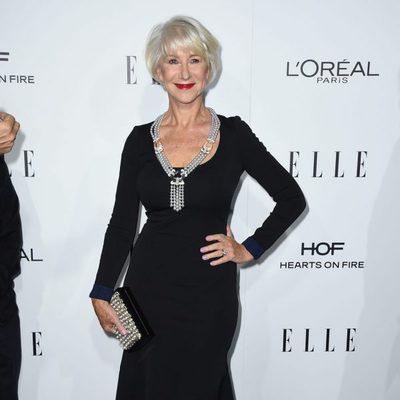 Hellen Mirren en la entrega de los Premios Women in Hollywood 2016 de la revista Elle