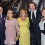 María Teresa Campos, Bigote Arrocet, Carmen Borrego, José Carlos Bernal y Terelu Campos en el aniversario de un hotel en Málaga