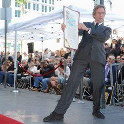 Hugh Laurie inaugura su estrella en el conocido Paseo de la Fama