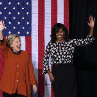 Michelle Obama apoyando a Hillary Clinton en su campaña electoral