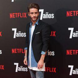 Pelayo Díaz en la premiere de '7 años' en Madrid