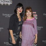 Irene Villa y su madre en la presentación de la semana 'Halloween 2016' del Parque de Atracciones de Madrid