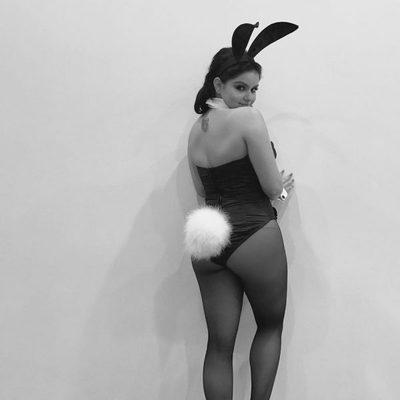 Ariel Winter se disfraza de conejita de Playboy para celebrar Halloween 2016