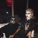 Kylie Jenner escoge un trabajado disfraz de esqueleto para celebrar Halloween 2016