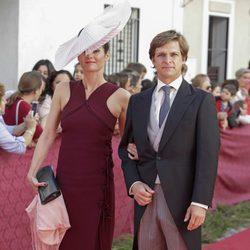 Julián López 'El Juli' con su mujer Rosario Domecq en la boda del rejoneador Diego Ventura
