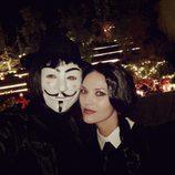 Helen Lindes y Rudy Fernández disfrazados en Halloween 2016