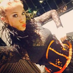 Patricia Montero disfrazada en Halloween 2016
