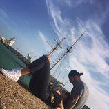 Sofía Suescun y Hugo Paz disfrutando del sol en El Puerto de Santa María