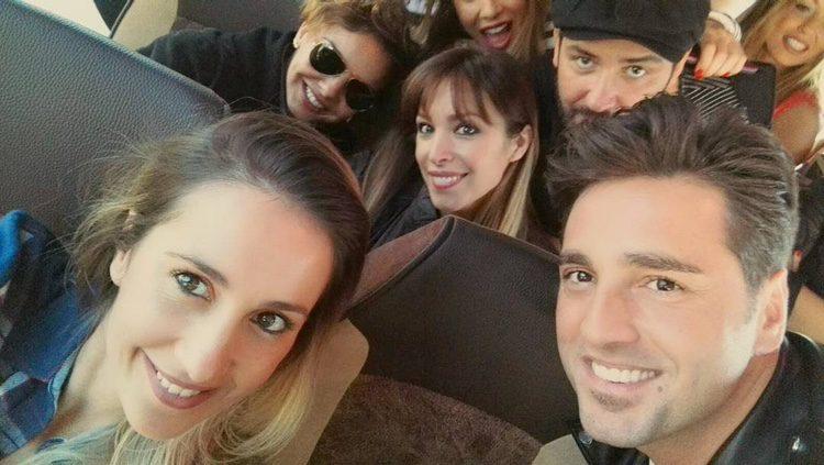 Chenoa, Alejandro Parreño, Bustamante, Gisela y Mireia camino a Barcelona para el concierto de 'OT: El Reencuentro'