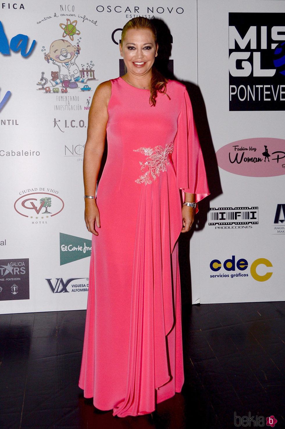 Belén Esteban en una gala benéfica contra el cáncer infantil en Vigo