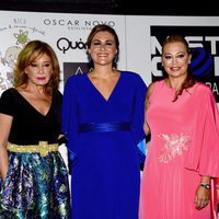 Mila Ximénez, Carlota Corredera y Belén Esteban durante una gala benéfica contra el cáncer infantil en Vigo
