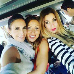 Nuria Fergó, Verónica y Natalia camino a Barcelona para el concierto de 'OT: El Reencuentro'