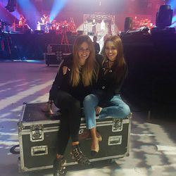 Isabel Navarro y Paula Echevarría en el ensayo del concierto de 'OT: El Reencuentro'