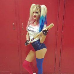 Ylenia Padilla disfrazada de Harley Quinn para Halloween 2016