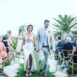 Michael Phelps y Nicole Johnson en su boda secreta