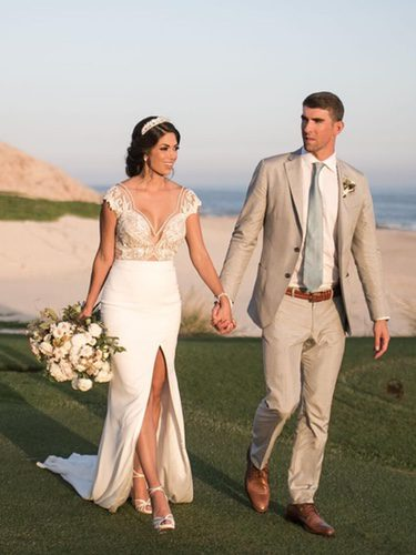 Michael Phelps y Nicole Johnson en su boda secreta en Arizona