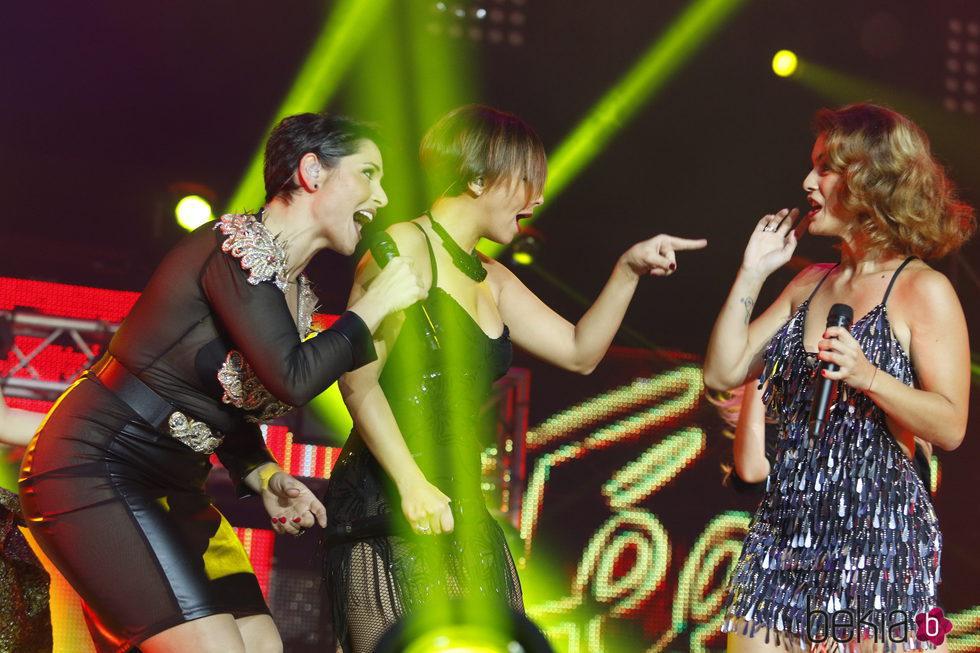 Rosa, Chenoa y Geno en  el concierto de 'OT. El reencuentro'