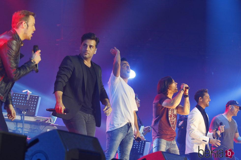 Los chicos de el concierto de 'OT. El reencuentro'