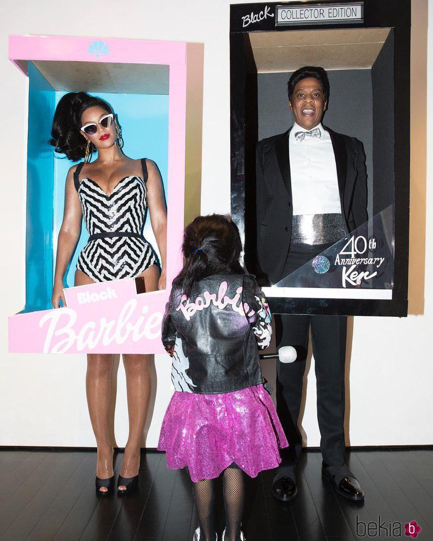 Beyoncé, Jay Z y Blue Ivy disfrazados para celebrar Haloween 2016