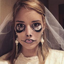 Alba Carrillo disfrazada en Halloween