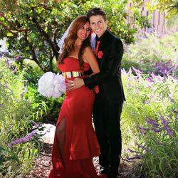 Sonia Monroy y JD el día de su boda