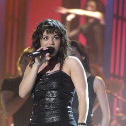 Ainhoa Cantalapiedra durante su participación en el concurso 'OT'