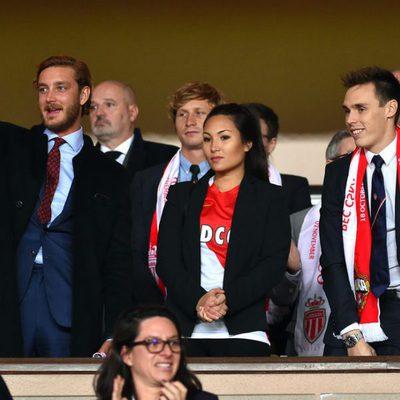 Pierre Casiraghi, Louis Ducruet y Marie Chevallier en el partido que enfrentó al Mónaco contra el CSKA Moscú