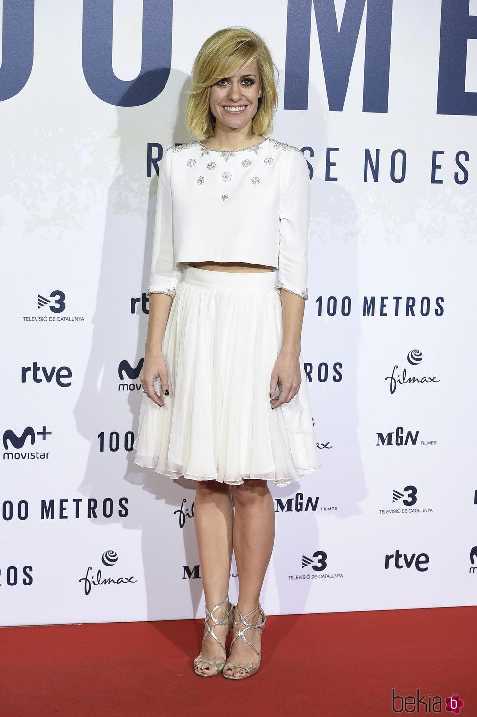 Alexandra Jiménez en el estreno de '100 metros' en Madrid