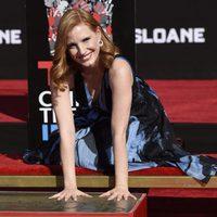 Jessica Chastain homenajeado en el Teatro Chino de Hollywood