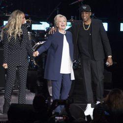 Beyoncé y Jay Z en la campaña electoral de Hillary Clinton