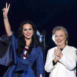 Katy Perry en la campaña electoral de Hillary Clinton