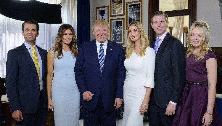 La saga Trump casi al completo en una reunión