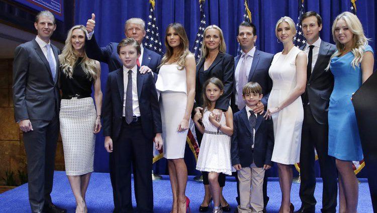El clan Trump casi al completo en la campaña electoral