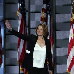 Sigourney Weaver en la Convención Nacional Demócrata