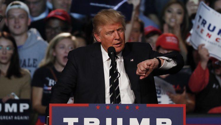 Donald Trump durante el cierre de  campaña 2016