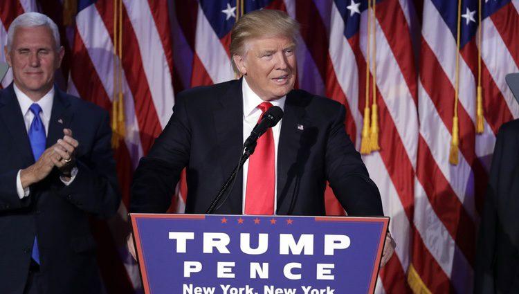 Donald Trump en su primer discurso tras ganar las elecciones de Estados Unidos