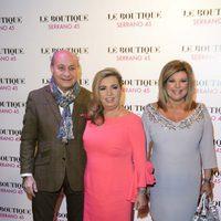 José Carlos Bernal, Carmen Borrego y Terelu Campos en la fiesta de cumpleaños de Borrego