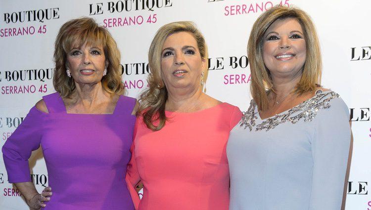 María Teresa Campos, Terelu Campos y Carmen Borrego en su fiesta de cumpleaños