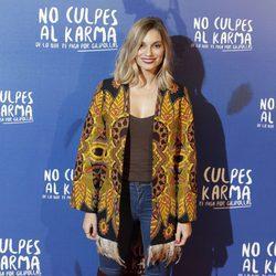 Norma Ruíz durante la premiere de la película 'No culpes al karma de lo que te pasa por gilipollas'