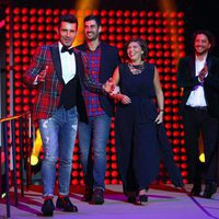 Jesús Vázquez, Manuel Carrasco y Melendi en la ceremonia de entrega de los Premios Ondas 2016