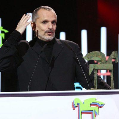 Miguel Bosé en la ceremonia de entrega de los Premios Ondas 2016