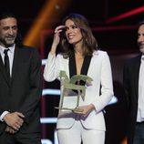 Mar Saura, Pere Ponce y Nacho Fresneda en la ceremonia de entrega de los Premios Ondas 2016
