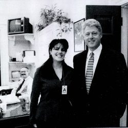 Monica Lewinsky y el Presidente Bill Clinton