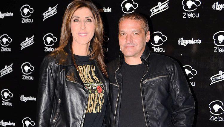Paz Padilla y Gustavo González en la inauguración del restaurante Zielou en Madrid