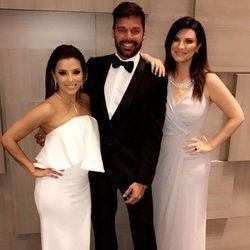 Eva Longoria, Ricky Martin y Laura Pausini en la gala Global Gift de México